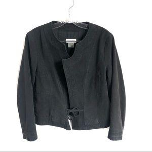 Dries Van Noten Black Denim Jacket